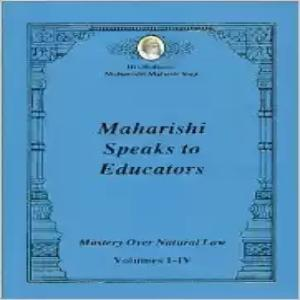 Maharishi Speaks to Educators